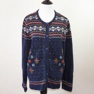 Designers Studio Originals Long Sleeve Sweater, XL